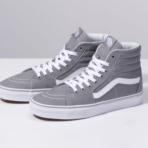 Vans Shoes   Grey Vans High Tops   Poshmark